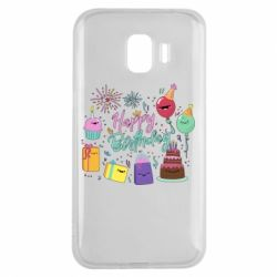 Чохол для Samsung J2 2018 Happy Birthday