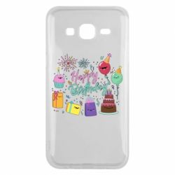 Чохол для Samsung J5 2015 Happy Birthday