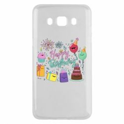 Чохол для Samsung J5 2016 Happy Birthday
