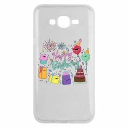 Чохол для Samsung J7 2015 Happy Birthday