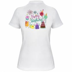 Жіноча футболка поло Happy Birthday