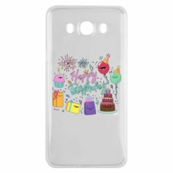 Чохол для Samsung J7 2016 Happy Birthday