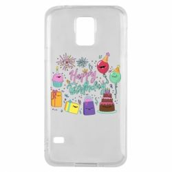 Чохол для Samsung S5 Happy Birthday
