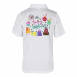 Дитяча футболка поло Happy Birthday
