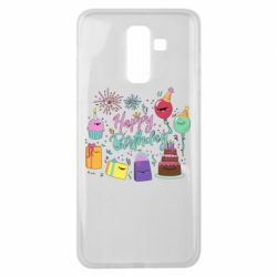 Чохол для Samsung J8 2018 Happy Birthday