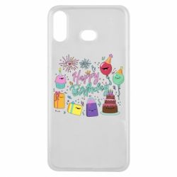 Чохол для Samsung A6s Happy Birthday