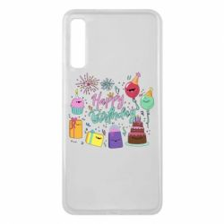 Чохол для Samsung A7 2018 Happy Birthday