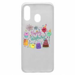 Чохол для Samsung A40 Happy Birthday