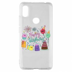 Чохол для Xiaomi Redmi S2 Happy Birthday