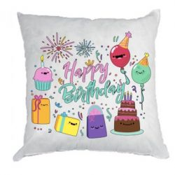 Подушка Happy Birthday
