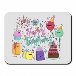 Килимок для миші Happy Birthday