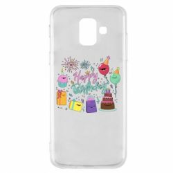 Чохол для Samsung A6 2018 Happy Birthday