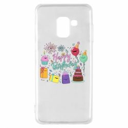 Чохол для Samsung A8 2018 Happy Birthday