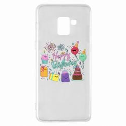 Чохол для Samsung A8+ 2018 Happy Birthday
