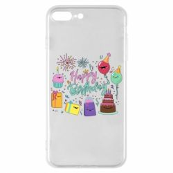 Чохол для iPhone 8 Plus Happy Birthday