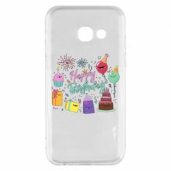 Чохол для Samsung A3 2017 Happy Birthday