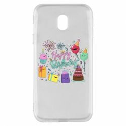 Чохол для Samsung J3 2017 Happy Birthday