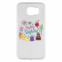 Чохол для Samsung S6 Happy Birthday