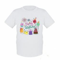 Дитяча футболка Happy Birthday