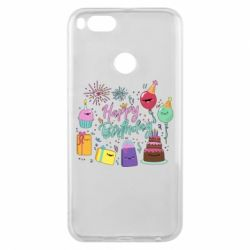 Чохол для Xiaomi Mi A1 Happy Birthday