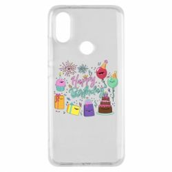 Чохол для Xiaomi Mi A2 Happy Birthday