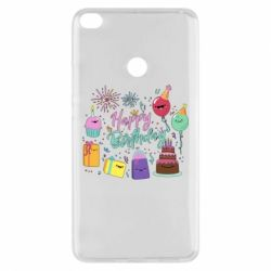 Чохол для Xiaomi Mi Max 2 Happy Birthday