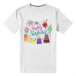 Чоловіча стрейчева футболка Happy Birthday