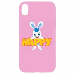 Чехол для iPhone XR Happy bunny