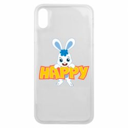 Чехол для iPhone Xs Max Happy bunny
