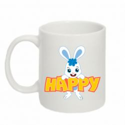 Кружка 320ml Happy bunny