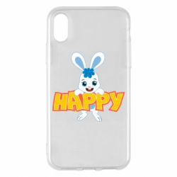 Чехол для iPhone X/Xs Happy bunny