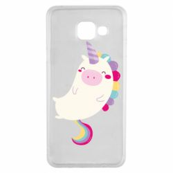 Чехол для Samsung A3 2016 Happy color unicorn