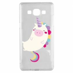 Чехол для Samsung A5 2015 Happy color unicorn