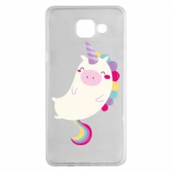 Чехол для Samsung A5 2016 Happy color unicorn