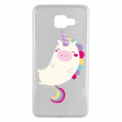 Чехол для Samsung A7 2016 Happy color unicorn