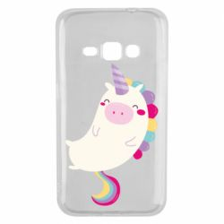 Чехол для Samsung J1 2016 Happy color unicorn