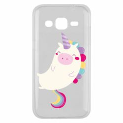 Чехол для Samsung J2 2015 Happy color unicorn