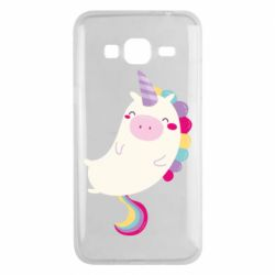 Чехол для Samsung J3 2016 Happy color unicorn