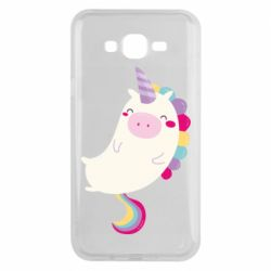 Чехол для Samsung J7 2015 Happy color unicorn
