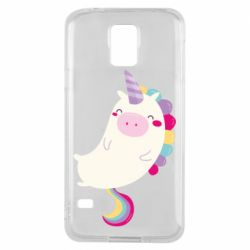 Чехол для Samsung S5 Happy color unicorn