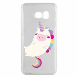 Чехол для Samsung S6 EDGE Happy color unicorn