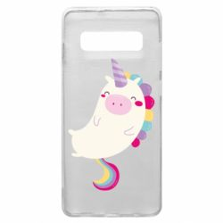 Чехол для Samsung S10+ Happy color unicorn