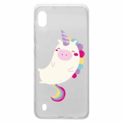 Чехол для Samsung A10 Happy color unicorn