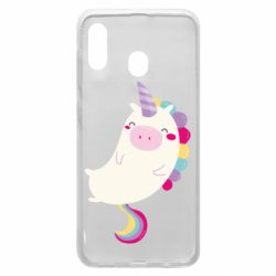 Чехол для Samsung A30 Happy color unicorn