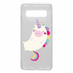 Чехол для Samsung S10 Happy color unicorn