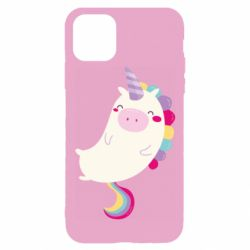 Чехол для iPhone 11 Pro Happy color unicorn