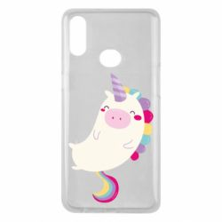 Чехол для Samsung A10s Happy color unicorn
