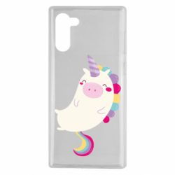 Чехол для Samsung Note 10 Happy color unicorn