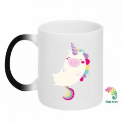 Кружка-хамелеон Happy color unicorn