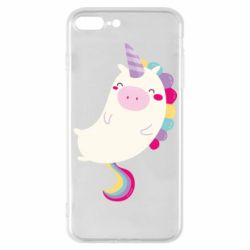 Чехол для iPhone 7 Plus Happy color unicorn